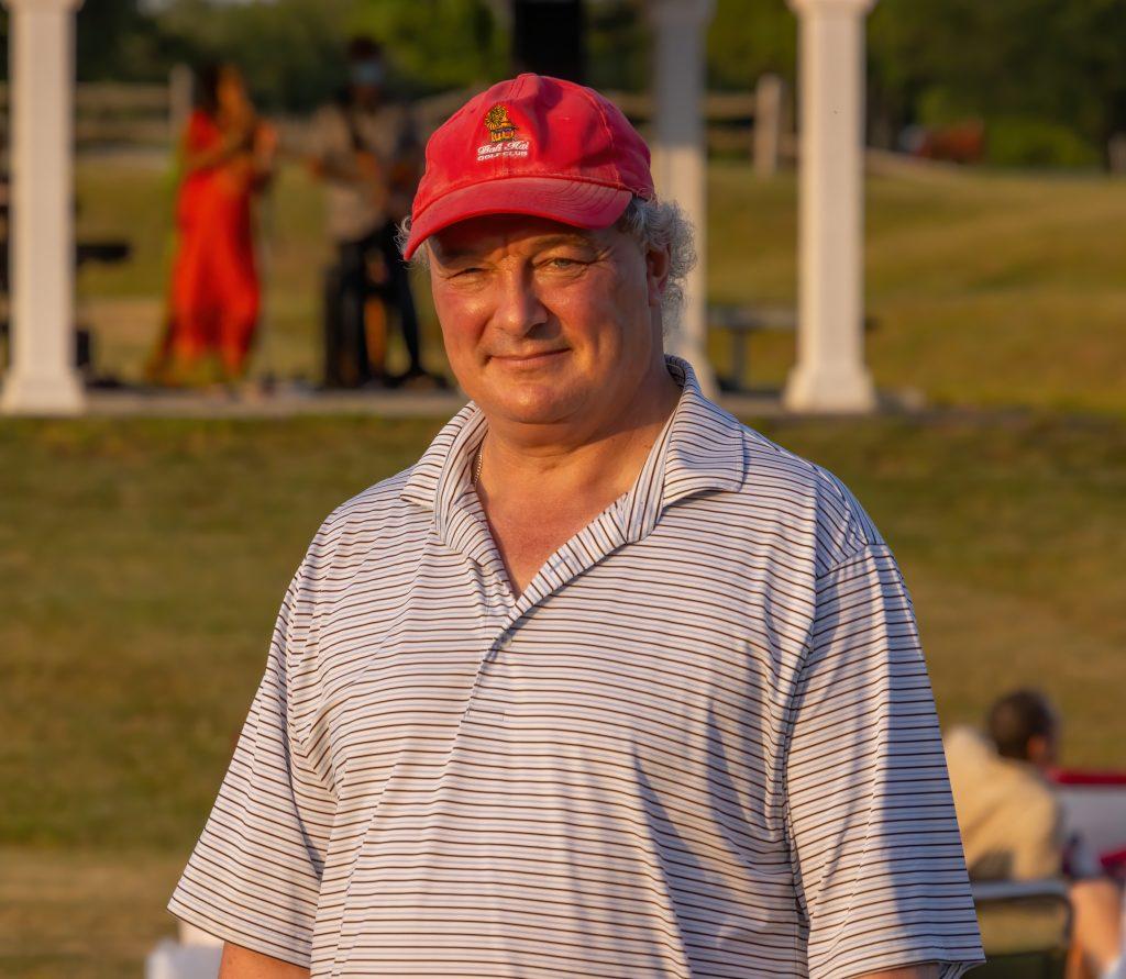 First Selectman Dave Bindelglass enjoys the Juneteenth event - Tomas Koeck photograph