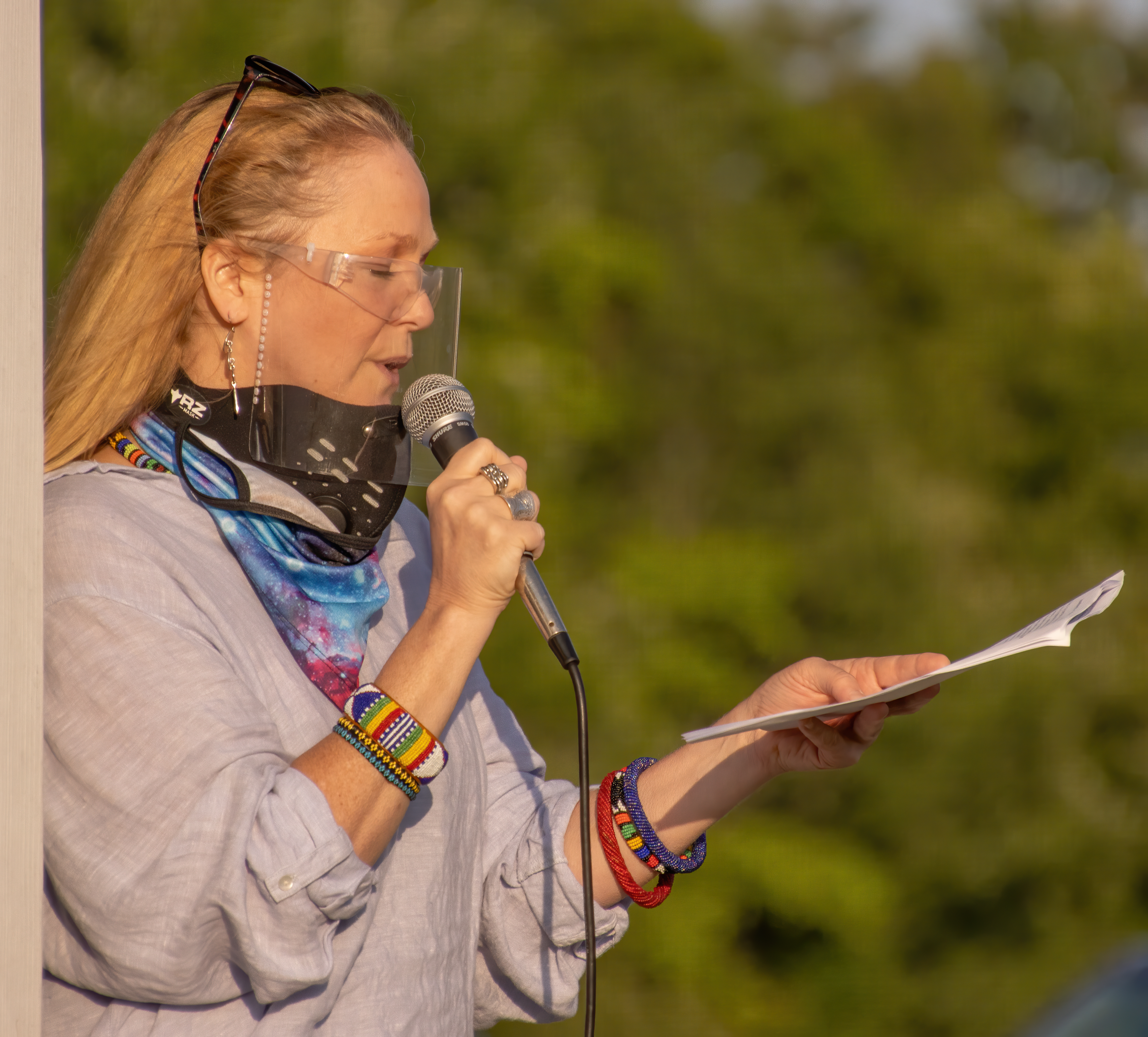 Dr. Whendi Cook-Broderick speaks about the history of enslavement in Easton and Redding - Tomas Koeck photo